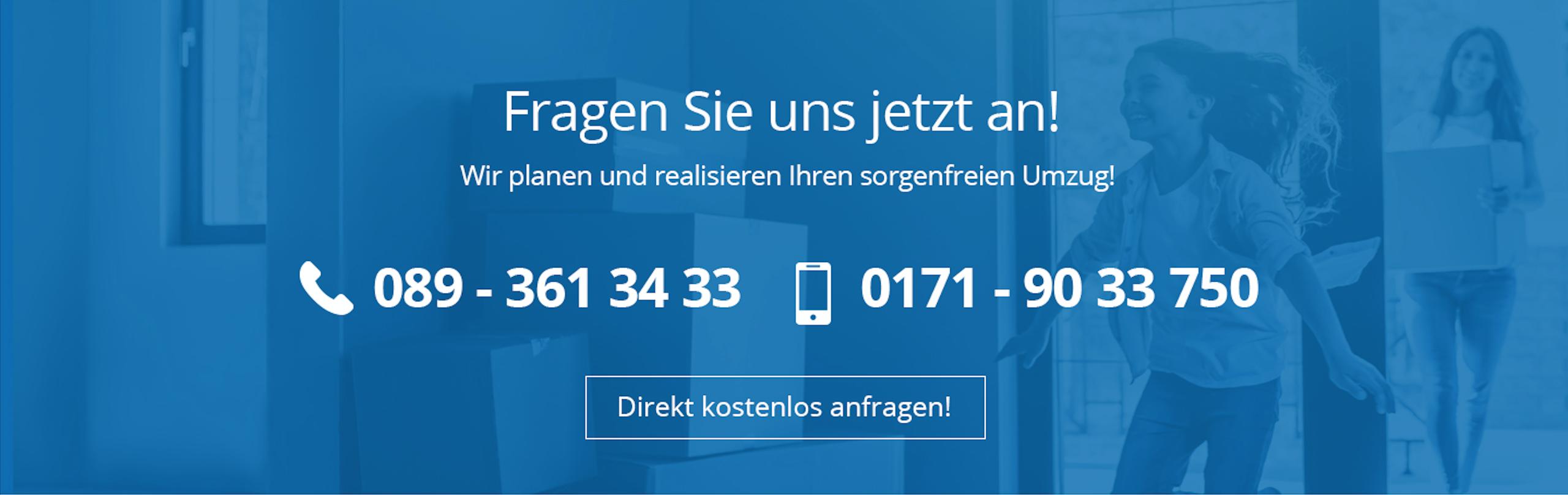 Fragen Sie uns jetzt an info@powerteam-umzuege.de, 089 - 361 34 33